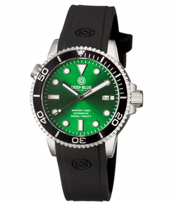 MASTER 1000 AUTOMATIC DIVER BLACK BEZEL -GREEN SUNRAY DIAL