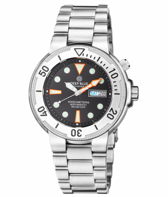 SunDiver 2 Automatic Silver Bezel White Dial
