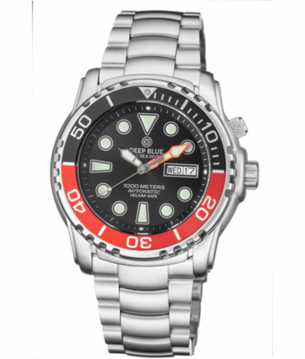 PRO SEA DIVER 1000M BRACELET BLACK/RED BEZEL - BLACK DIAL 20/30/40/50