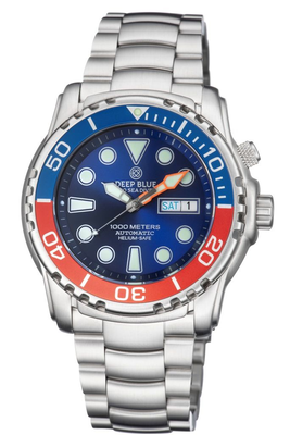 PRO SEA DIVER 1000M BRACELET BLUE/RED BEZEL - BLUE DIAL 20/30/40/50