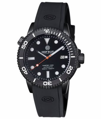 MASTER 1000 AUTOMATIC DIVER BLACK BEZEL -BLACK DIAL- BLUE SECOND HAND