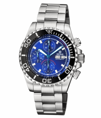 MASTER CHRONO 7750 AUTOMATIC DIVER DIAL DARK BLUE SUNRAY DIAL