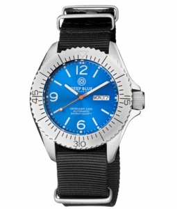 DEFENDER 1000 44MM AUTOMATIC SS CASE LIGHT BLUE SUNRAY DIAL
