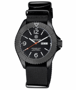 DEFENDER 1000 44MM AUTOMATIC PVD CASE BLACK DIAL