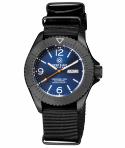 DEFENDER 1000 44MM AUTOMATIC PVD CASE DARK BLUE SUNRAY DIAL
