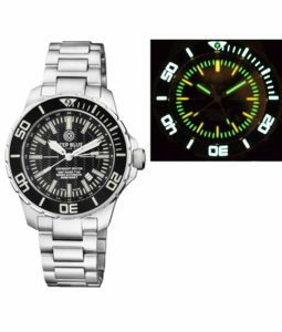 DAYNIGHT RECON GMT 2893 SWISS AUTOMATIC TRITIUM T-100 BLACK DIAL