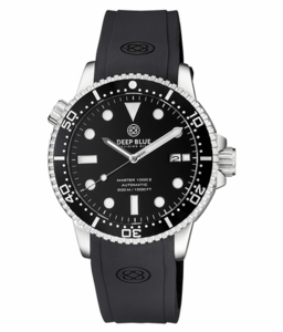 MASTER 1000 II 44MM AUTOMATIC DIVER BLACK CERAMIC BEZEL -BLACK GLOSSY DIAL-SILVER HANDS