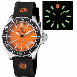 DAYNIGHT MIL T100 TRITIUM GREEN FLAT TUBES -ORANGE DIAL