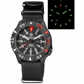 DAYNIGHT DIVER PC TRITIUM WATCH BLACK/RED BEZEL - BLACK DIAL