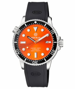MASTER 1000 II 44MM AUTOMATIC DIVER BLACK CERAMIC BEZEL -ORANGE SUNRAY DIAL