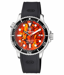 MASTER 1000 II 44MM AUTOMATIC DIVER BLACK CERAMIC BEZEL -ORANGE ABALONE DIAL
