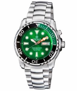 PRO SEA DIVER 1000M BRACELET ¼ GREEN/ BLACK BEZEL –GREEN DIAL
