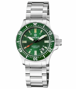 DAYNIGHT 41 TRITDIVER T-100 TRITIUM TUBES AUTOMATIC GREEN BEZEL- GREEN DIAL