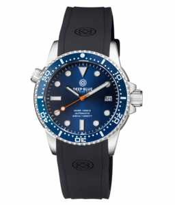 DIVER 1000 II 40MM AUTOMATIC DIVER DARK BLUE CERAMIC BEZEL – DARK BLUE DIAL ORANGE SECOND HAND