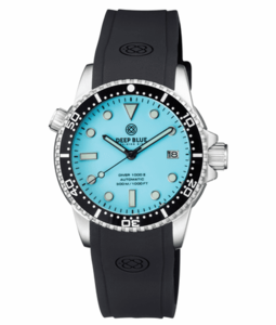 DIVER 1000 II 40MM AUTOMATIC DIVER BLACK CERAMIC BEZEL – ICE BLUE DIAL STRAP