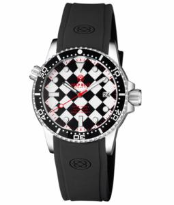 DIVER 1000 II 40MM AUTOMATIC DIVER BLACK CERAMIC BEZEL – BLACK / WHITE CHECKER DIAL RED SECOND HAND BRACELET