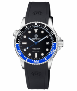 DIVER 1000 II 40MM AUTOMATIC DIVER BLACK/BLUE CERAMIC BEZEL -BLACK SUNRAY DIAL BLUE HANDS
