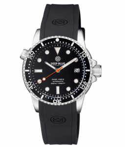 DIVER 1000 II 40MM AUTOMATIC DIVER BLACK CERAMIC BEZEL – BLACK GLOSSY DIAL ORANGE SECOND HAND