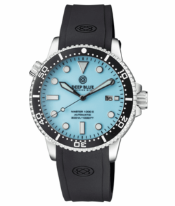 MASTER 1000 II 44MM AUTOMATIC DIVER BLACK CERAMIC BEZEL – ICE BLUE DIAL STRAP