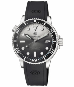 MASTER 1000 II 44MM AUTOMATIC DIVER BLACK CERAMIC BEZEL SUNRAY WHITE BLACK DIAL STRAP
