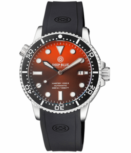 MASTER 1000 II 44MM AUTOMATIC DIVER BLACK CERAMIC BEZEL SUNRAY ORANGE DIAL STRAP