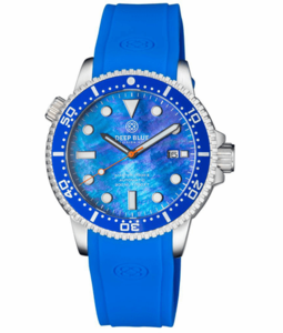 SPECIAL DEAL DIVER 1000 II 40MM AUTOMATIC DIVER BLUE CERAMIC BEZEL - BLUE MOTHER OF PEARL DIAL