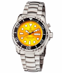 DEEP BLUE PRO SEA DIVER 1000M BRACELET YELLOW - AUTOMATIC