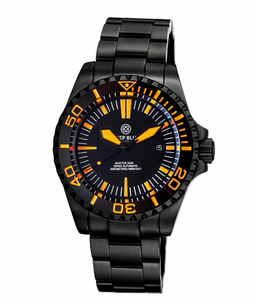 MASTER 2000 SWISS AUTOMATIC DIVER –BLACK/ORANGE-BLACK/ORANGE-PVD BLACK CASE
