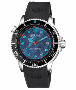 JUGGERNAUT IV SWISS AUTOMATIC – BLACK DIVER MOTHER OF PEARL DIAL STRAP