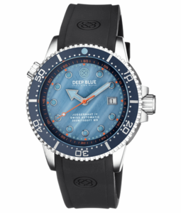 JUGGERNAUT IV SWISS AUTOMATIC – BLUE DIVER MOTHER OF PEARL DIAL STRAP