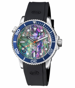 MASTER 1000 AUTOMATIC DIVER BLUE BEZEL -LARGE ABALONE SHELL DIAL