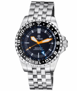 MASTER 2000 GMT AUTOMATIC DIVER- ETA 2893-2 SWISS MADE MOVEMENT BLACK ORANGE