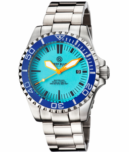 MASTER 2000 SWISS AUTOMATIC DIVER BLUE-ORANGE-FULL LUME DIAL
