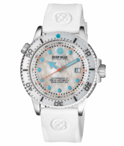 JUGGERNAUT IV SWISS AUTOMATIC – DIVER MOTHER OF PEARL WHITE DIAL STRAP