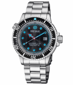 JUGGERNAUT IV USA SWISS AUTOMATIC – DIVER #4 BLACK/WHITE BEZEL - BLACK DIAL BRACELET