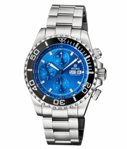 MASTER CHRONO 7750 AUTOMATIC DIVER DIAL LIGHT BLUE SUNRAY DIAL