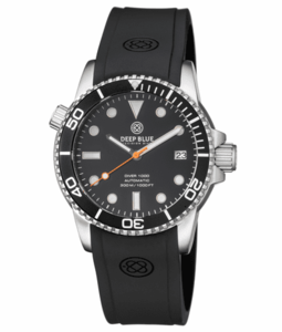 DIVER 1000 AUTOMATIC DIVER BLACK BEZEL -BLACK DIAL-ORANGE SECOND HAND